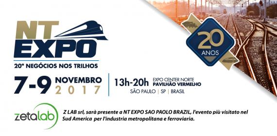 Z Lab srl parteciperà a NT EXPO SAO PAOLO BRAZIL 7-9 Novembre 2017