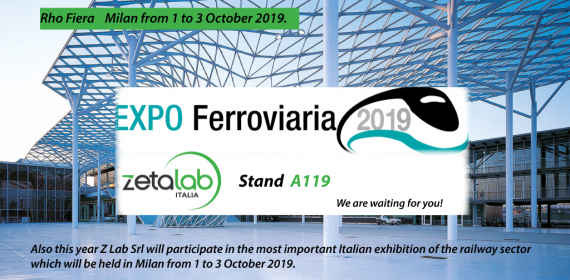 Z LAB WILL TAKE PART IN 2019 RAILWAY EXPO! FIERA MILAN RHO 1-3 OCTOBER STAND A119
