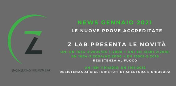 News Gennaio 2021 - RESISTENZA AL FUOCO e RESISTENZA AI CICLI RIPETUTI DI APERTURA E CHIUSURA